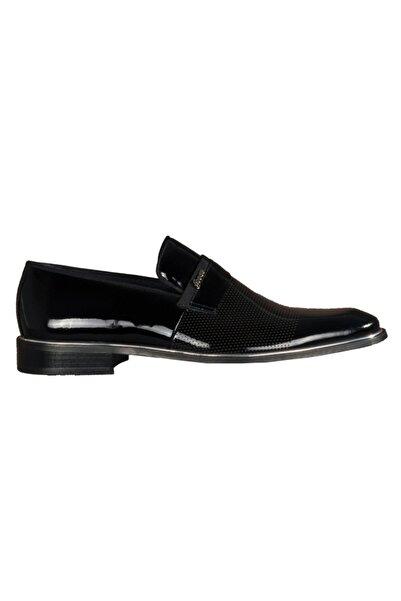 Fosco Erkek Siyah Hakiki Deri Klasik Ayakkabı