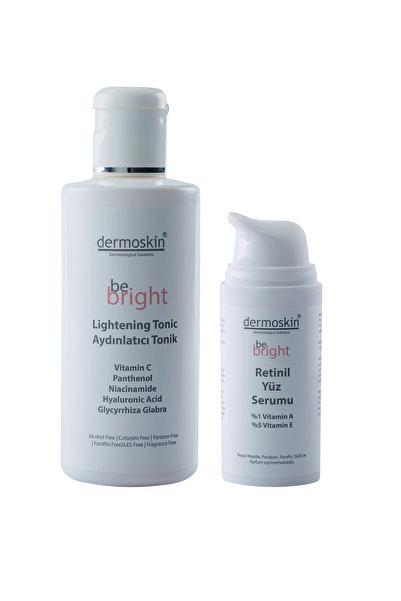Dermoskin Dermokin Be Bright Retinil Yüz Serumu 33 ml Be Bright Aydınlatıcı Tonik 200 ml