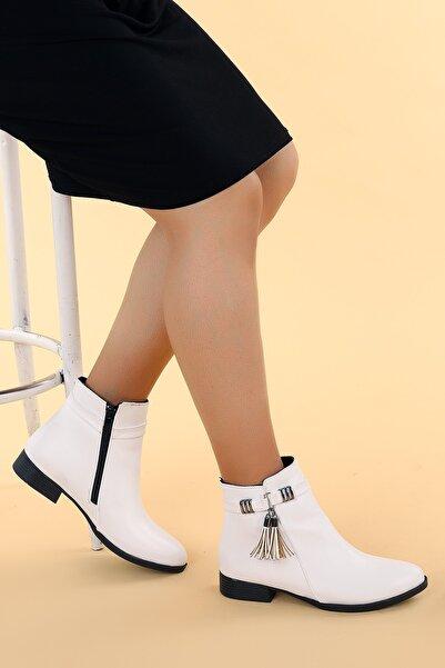 Ayakland Kadın Beyaz Bot Ayakkabı