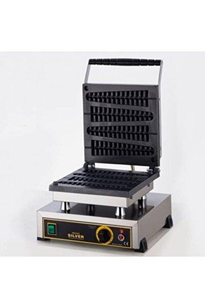 Işıkgaz Tekli Çubuk Waffle Makinası Silver Profesyonel