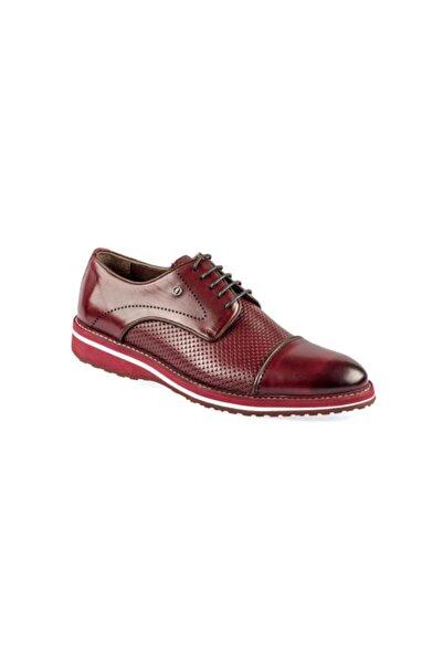 Fosco Erkek Bordo Hakiki Deri Casual Ayakkabı