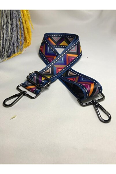 Yasmin Bijuteri Ayarlanabilir Lacivert Renk Desenli Çanta Askısı