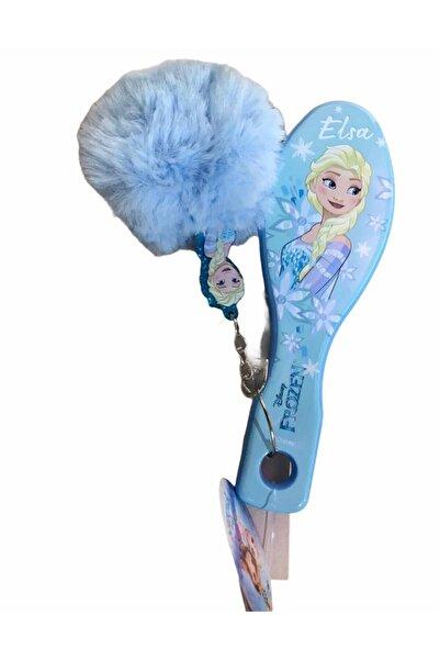 Disney Frozen Elsa Lisanslı Orjinal Saç Fırçası Tarak Ponpon Anahtarlıklı