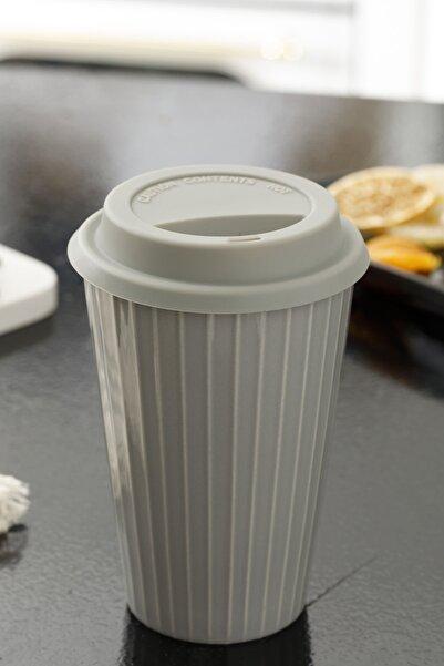 English Home Rety New Bone Travel 440 ml Gri Mug