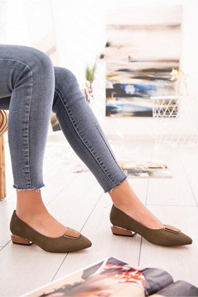 Jilberto Kadın Haki Topuklu Ayakkabı