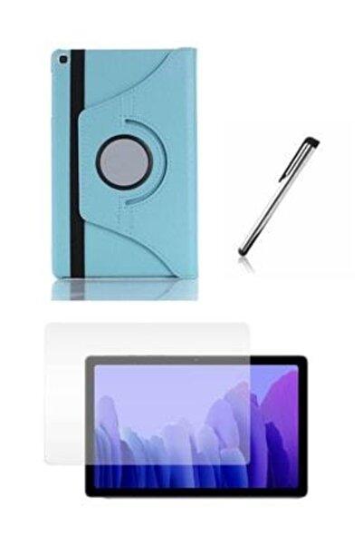 E TicaShop Samsung Galaxy Tab A7 Sm T500 T505 T507 Tablet Kılıfı Dönerli Seti 10,4 Inç Set