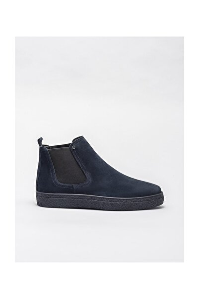 Elle Shoes Lacivert Deri Erkek Düz Bot