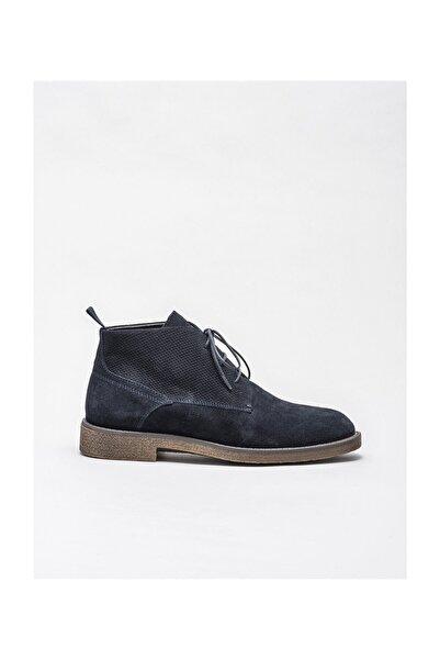 Elle Shoes Lacivert Deri Erkek Günlük Bot