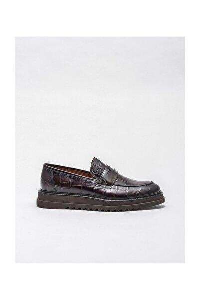 Elle Shoes Kahve Deri Erkek Klasik Ayakkabı