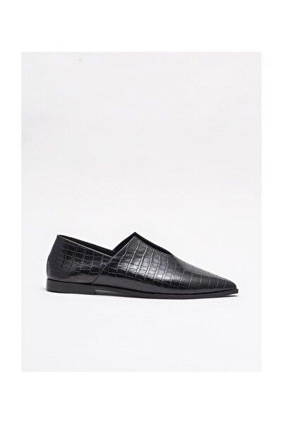 Elle Shoes Siyah Deri Kadın Günlük Ayakkabı