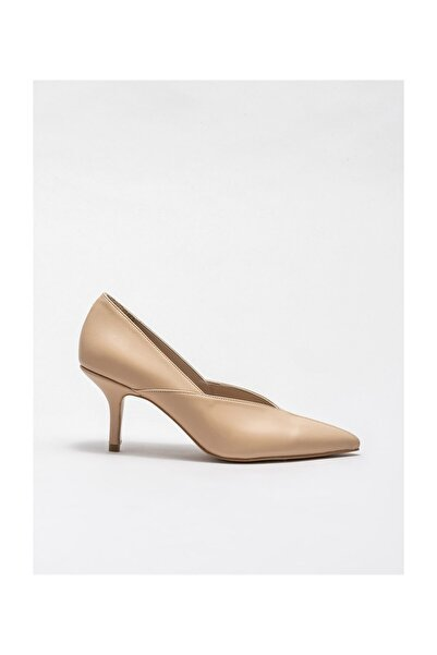 Elle Shoes Naturel Kadın Stiletto