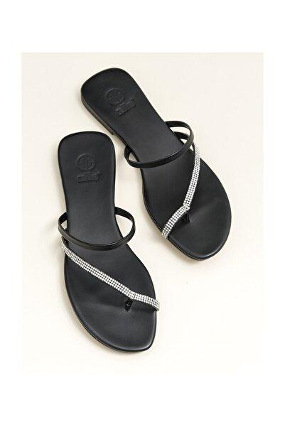Elle Shoes Lınnet Siyah Kadın  Terlik 20YDS54133