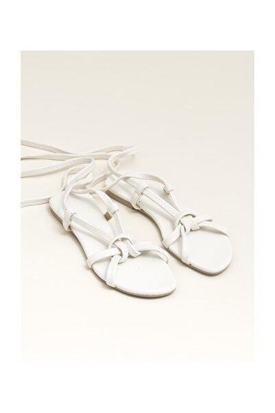 Elle Shoes Ina Ekru Kadın  Sandalet 20YDS54131