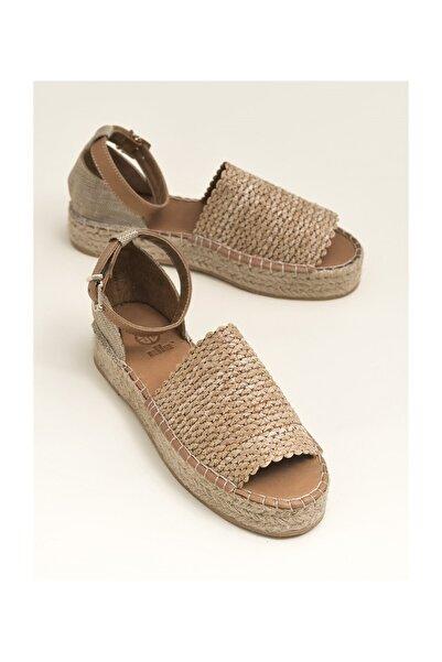 Elle Shoes Sandon Bej Naturel Kadın  Sandalet 20YGFE11