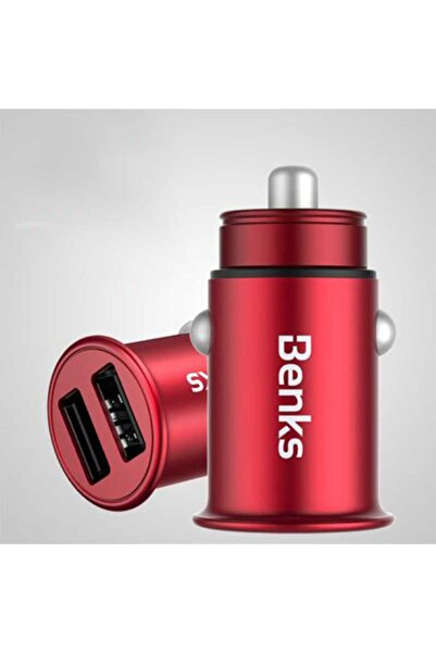 zore Benks C.d.ch.00.rd.0007 C27 Dual Usb Car Charger Red(4.8a) Red