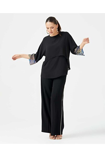 SEÇİL Kadın Siyah Bluz