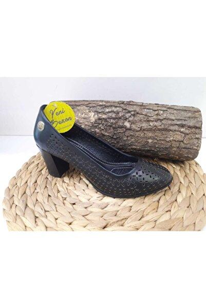 Mammamia Kadın Hakiki Deri Topuklu Ayakkabı D19ya-200