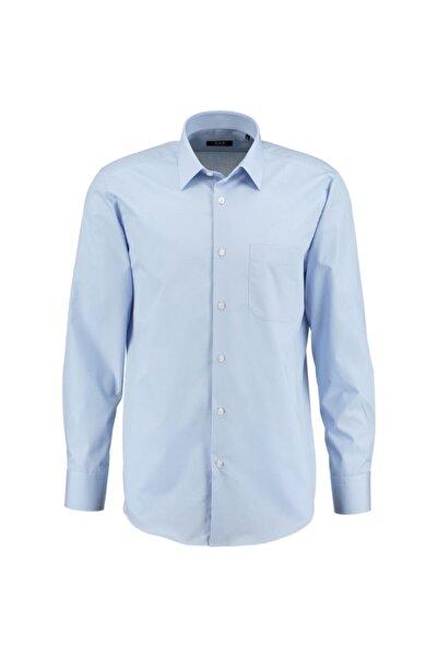 CCS Sarar Frank Klasik Kesim Erkek Gömlek Mavi