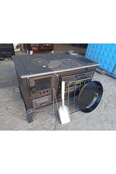 VAV Cam Kapak Takma Ayak Döküm Estetik Kuzine Soba Kömür Odun Sobası