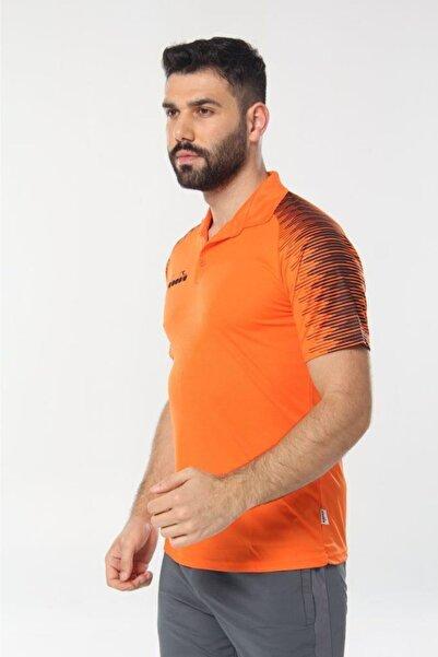 Diadora Erkek Turuncu Ritim Kamp Polo T-shirt