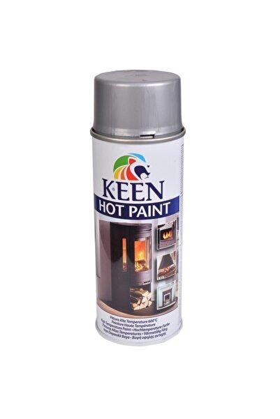 Keen Gri Hot Paint 600 C Isıya Dayanıklı Sprey Boya 400 ml