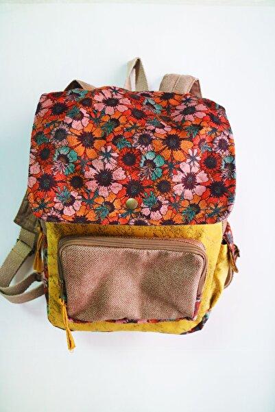 Street Bag Kadın Sarı Kapaklı Sırt Çantası