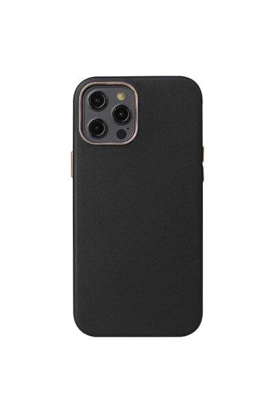 zore Iphone 12 Pro Kılıf Orjinal Deri Kamera Korumalı Kaymaz Kapak