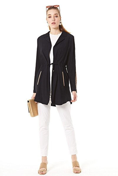 Nihan Kadın Siyah Ceket  B5072