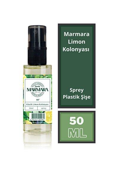 Marmara Klasik Limon Kolonyası 80 Derece 50ml Pet Sprey Şişe