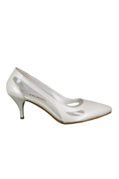 Hobby Kadın Beyaz Topuklu Stileto Ayakkabı 668