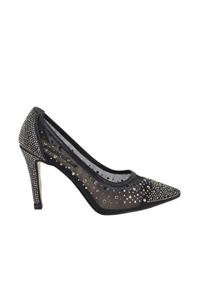 Venüs Kadın Siyah Stiletto Topuklu Kadın Ayakkabı 20729247