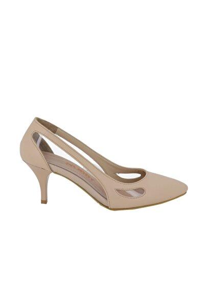 Hobby Kadın Ten Topuklu Stileto Ayakkabı 668
