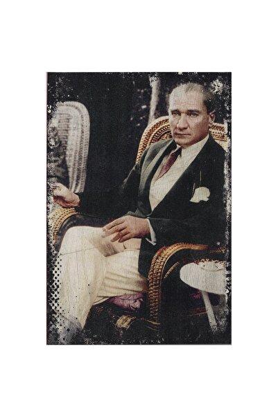 Onigi Tasarım Atatürk Portre Görünümlü Ahşap Tablo