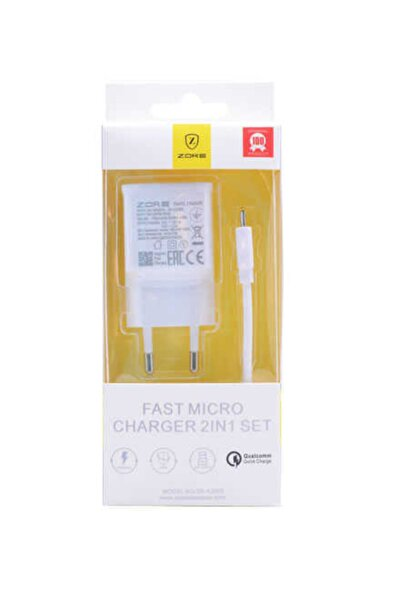 zore Z-14 Fast Charger Beyaz Travel Set