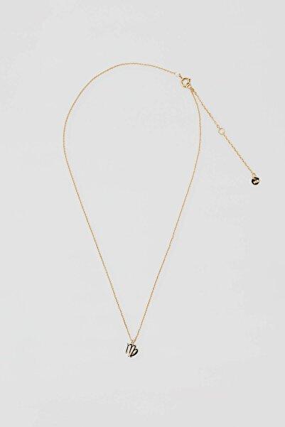 Pull & Bear Kadın Altın Rengi Metal Başak Burcu Kolye 04991320