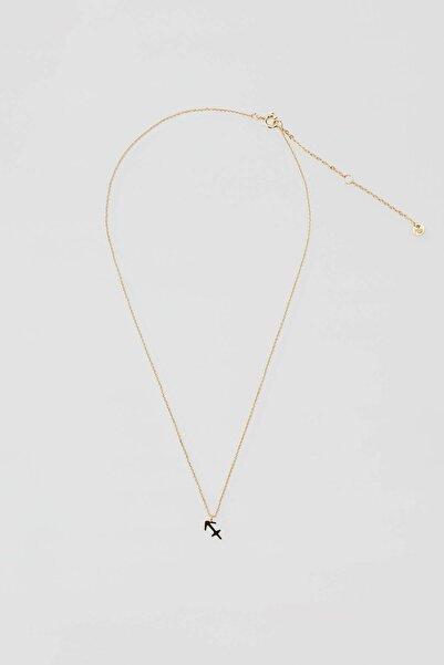 Pull & Bear Kadın Altın Rengi Metal Yay Burcu Kolye 04991311