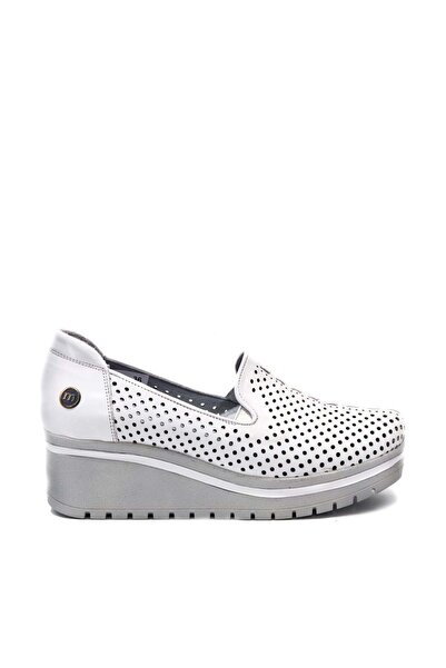 Mammamia Kadın Beyaz Topuk Detaylı Ayakkabı D19ya-725