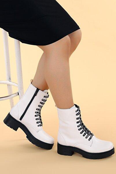 Ayakland Kadın Cilt Fermuarlı Termo Bot Ayakkabı 2463-2115