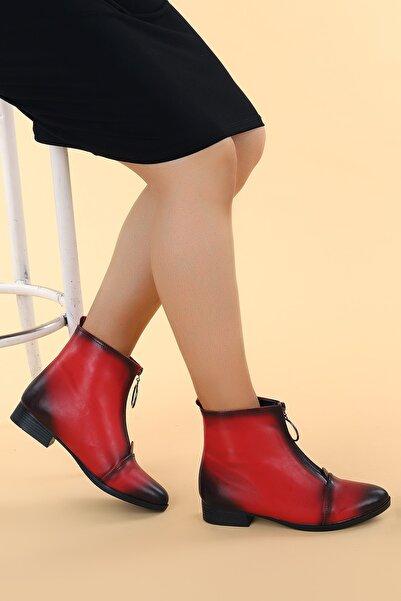 Ayakland Kadın Cilt Fermuarlı Bot Ayakkabı 8284-2003