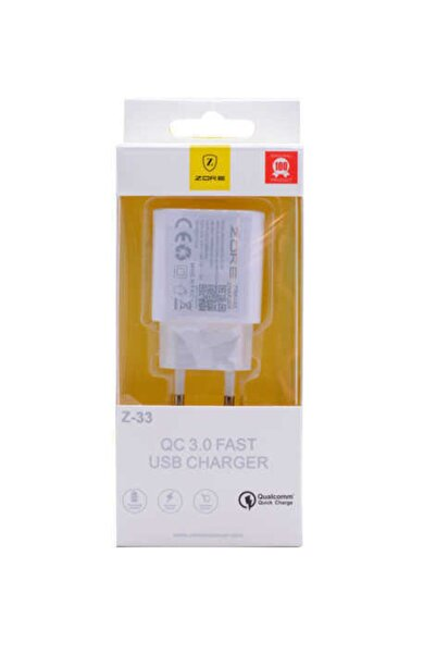 zore Z-33 Qc 3.0 Beyaz Travel Charger