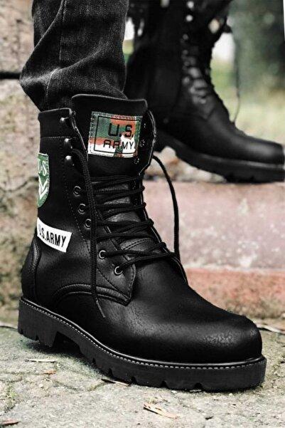 Marsetti Erkek Siyah Army Bot