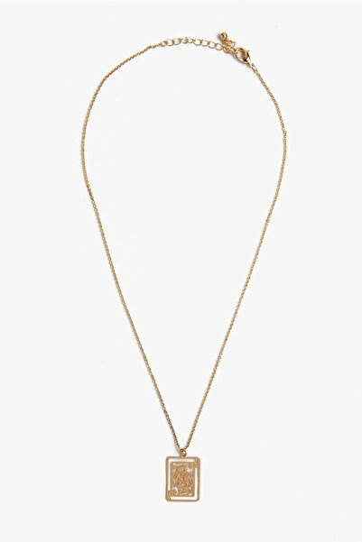 Koton Kadın Sarı Metalik Kolye 0YAK70751OA