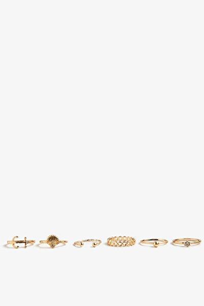 Koton Kadın Sarı Çoklu Yüzük Seti 0YAK71308OA