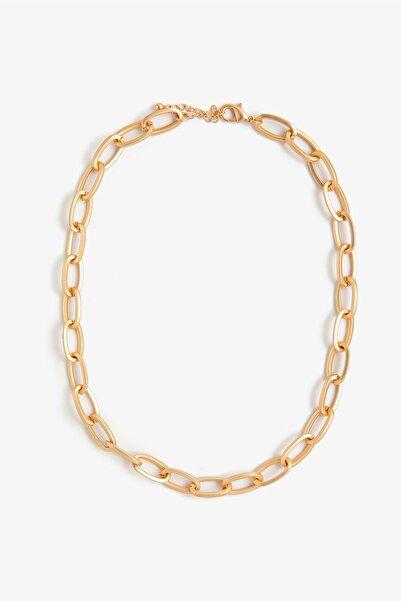 Koton Kadın Sarı Zincir Kolye 0YAK71015AA