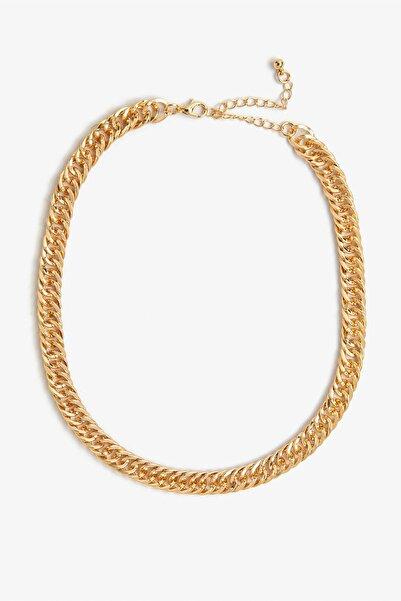 Koton Kadın Sarı Zincir Kolye 0YAK71120AA