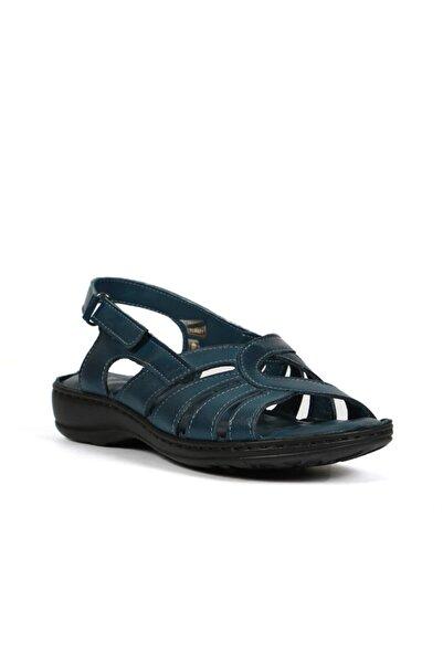 Hammer Jack Kadın Mavi Cırtlı Sandalet