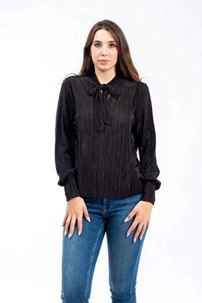 Vero Moda Kadın Siyah Uzun Kollu Bluz