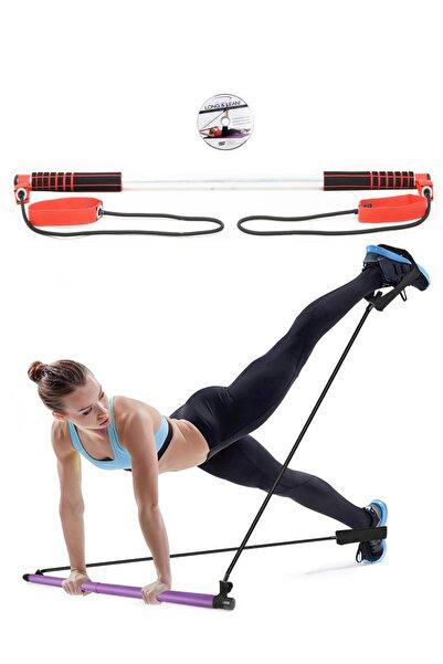 Spor Byfit Kırmızı Pilates Egzersiz Direnç Lastiği Ve Egzersiz Dvd'si