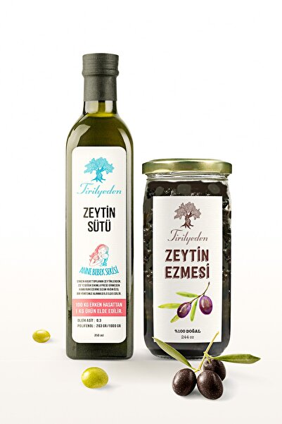 Tirilyeden Zeytin Sütü Anne Bebek Serisi 250 Ml +doğal Zeytin Ezmesi 244 Cc