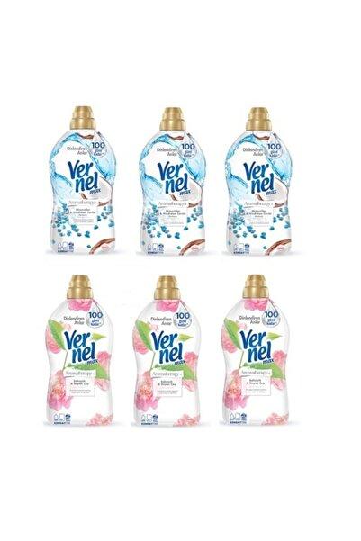 Vernel Max Şakayık &beyaz Çay Yumuşatıcı 1440 Ml (3 Adet ) + Mineraller&hindistan Yumuşatıcı(3 Adet)
